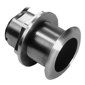 Stainless Steel Thru-hull Mount Transducer with Depth & Temperature (20° tilt) - Airmar SS60