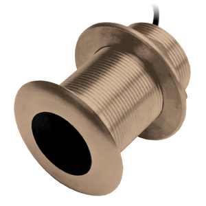 Bronze Thru-Hull Mount Transducer with Depth & Temperature (12° tilt) - Airmar B150M