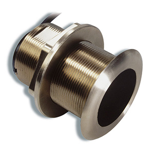 Bronze Tilted Thru-hull Transducer with Depth & Temperature (12° tilt, 8-pin) - Airmar B60